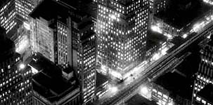 BERENICE ABBOTT, New York at Night, 1936/1970