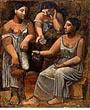"""Pablo Picasso """"Trois femmes a la source"""" (1921)"""